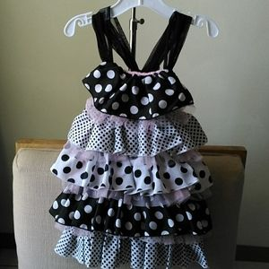 Mudpie ruffle dress 4t